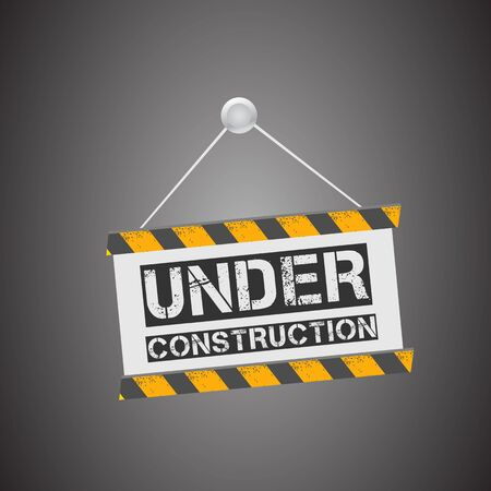 Under construction board Stock Vector - 17477739