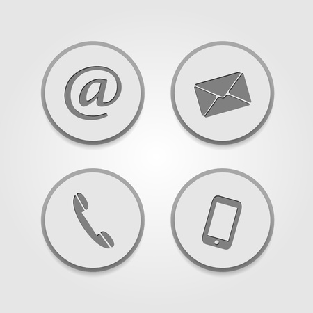 Contact icons Stock Photo - 21797810