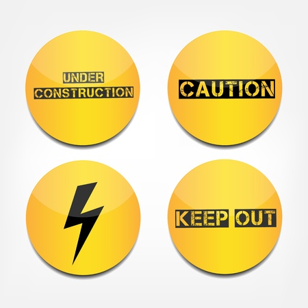 Caution signs Stock Vector - 21798063