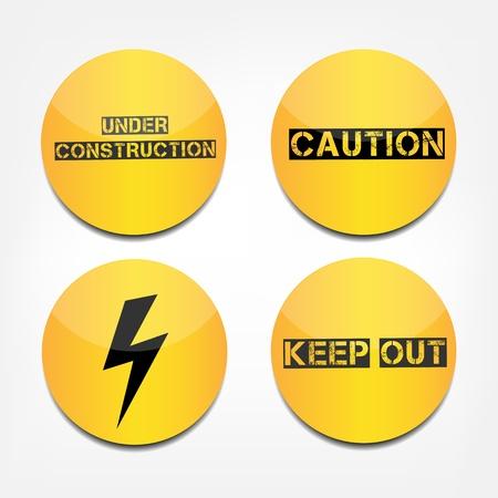 dangerous work: Caution signs