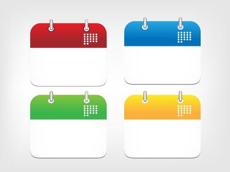 Colorful calendar icons