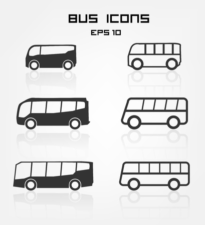 coach bus: Bus icons Illustration