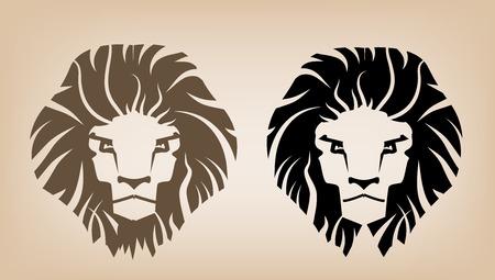 Lion Head Icons Illustration