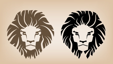 head of lion: Lion Head Icons Illustration