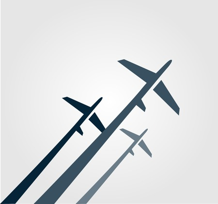 business symbols and metaphors: Airplanes background