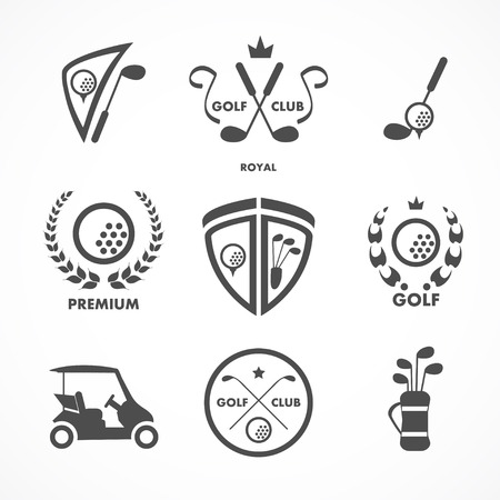golf stick: Golf sign and symbols