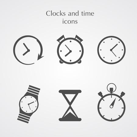 orologio da parete: Icone Orologi Vettoriali