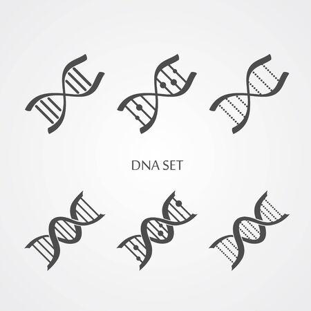 Dna icons set Illustration