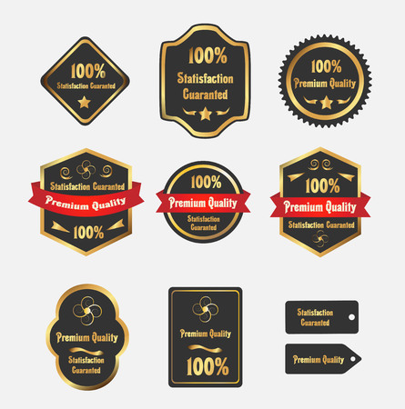 Premium quality Labels Illustration