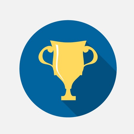 Golden cup icon