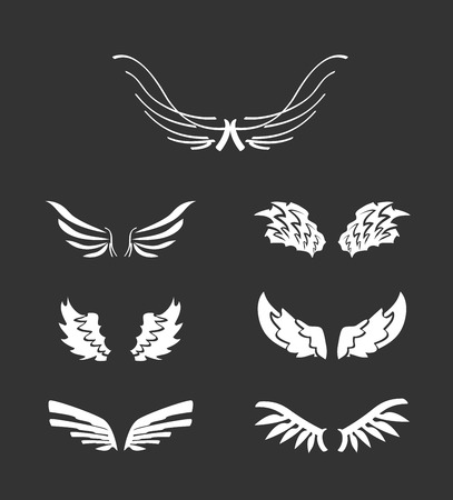 White wings collection Vector