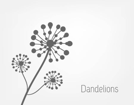 dandelion wind: Dandelions background Illustration