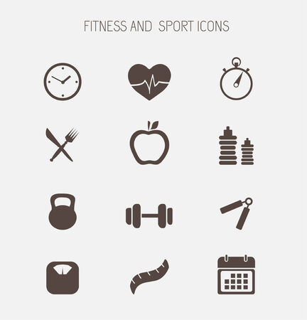 Fitness and health icons