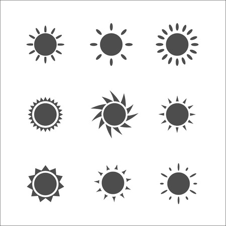 Sun icon. Vector illustration. Vector