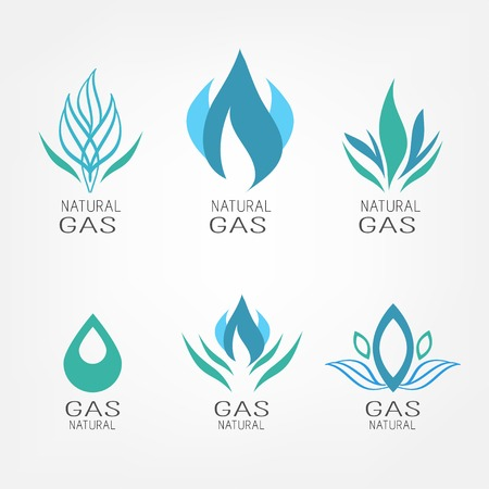 natural gas: Set of gas icons