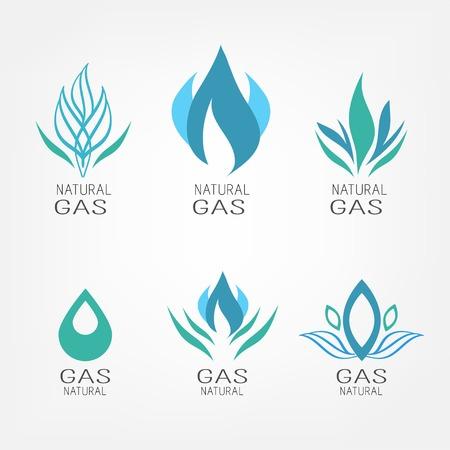 borehole: Set of gas icons