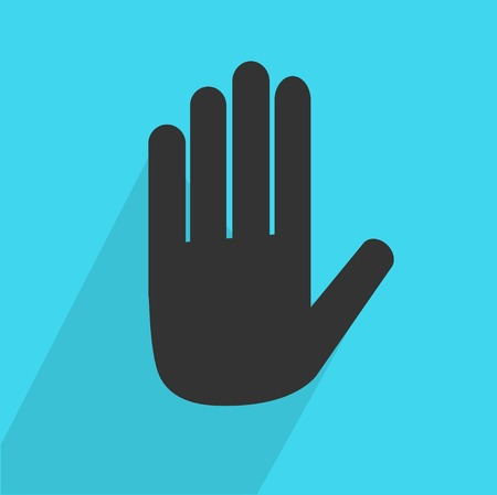 stop hand: Hand Stop icon
