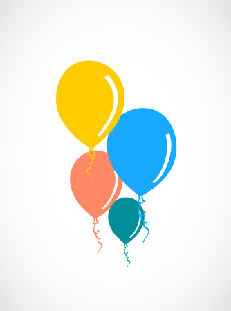 colored balloons: Colored balloons illustration.