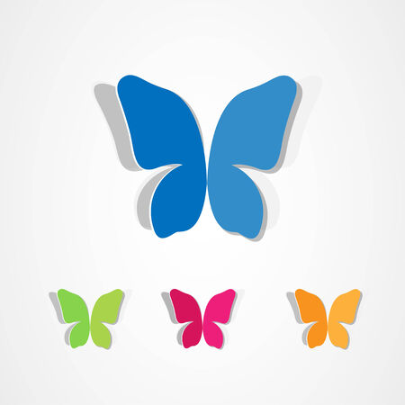 Butterfly icons set Illustration