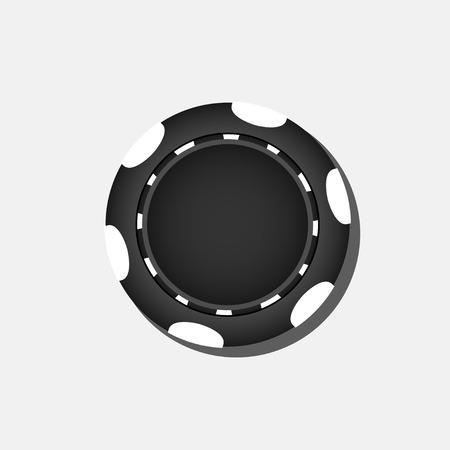 poker chip: Black poker chip Illustration