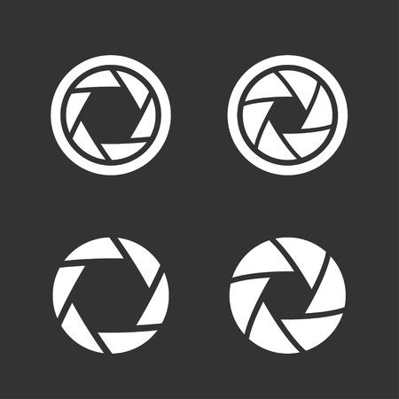 Shutter icons set Stock Vector - 33883451