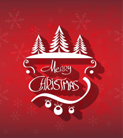 Merry Christmas hand drawn background