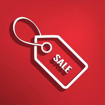 Sale tag flat icon Illustration