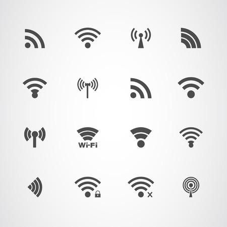 Wi Fi icons set Illustration