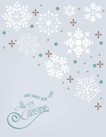 Merry Christmas Snowflake background Illustration