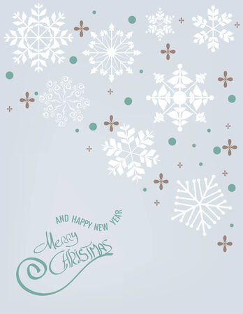 Merry Christmas Snowflake background Illustration