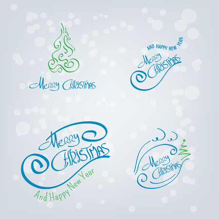 Merry Christmas Hand Drawn Elements Illustration