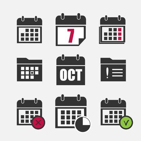 agenda: calendar icons