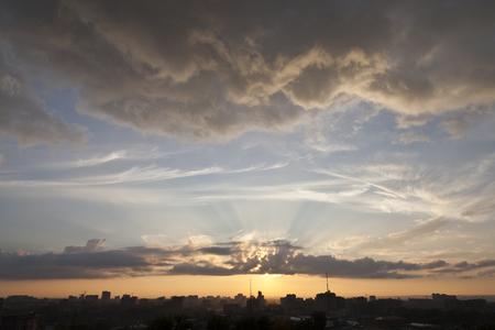awakening: Morning. City. Awakening Stock Photo