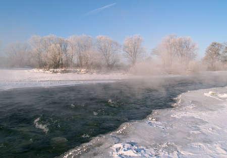 ussuri: Riverheads of Ussuri in the winter morning