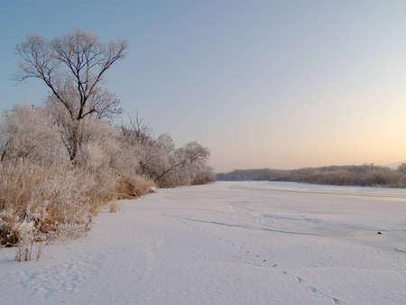ussuri: On ice of the frozen river Ussuri