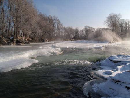 ussuri: Russia, river Ussuri Stock Photo