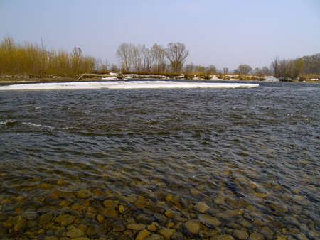 The Shoal a last ice on spring river photo