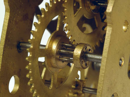 Fragment of a clockwork golden colour close up    Stock Photo - 14620160