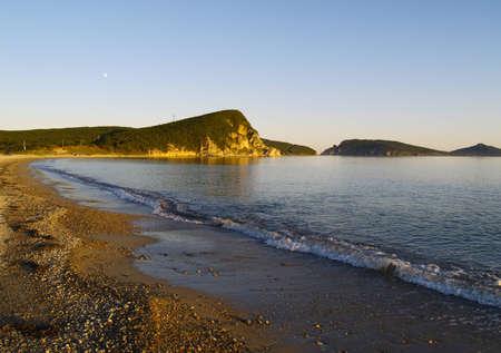 L'océan Pacifique, la mer du Japon, la baie de Vladimir, en Russie Banque d'images - 14661432