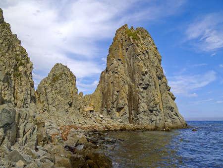 Rocks on sea coast - a summer landscape