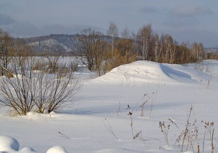 brink: Winter landscape - on the brink of a snow-covered meadow