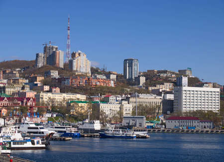 The city of Vladivostok, Russia - a view from sea party
