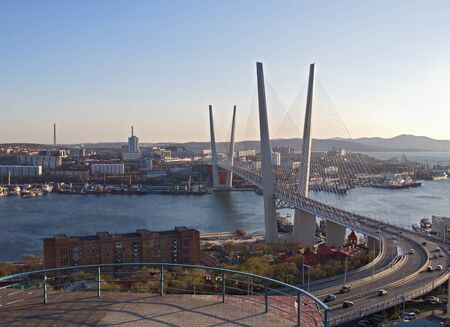 New suspension bridge through a bay in Vladivostok