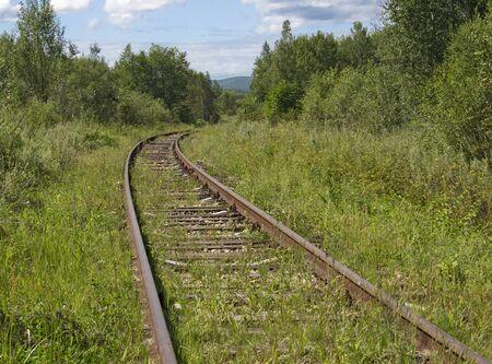 old railroad Stock Photo