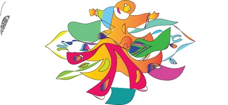 figure, movement, dance, color, rhythm, colors,