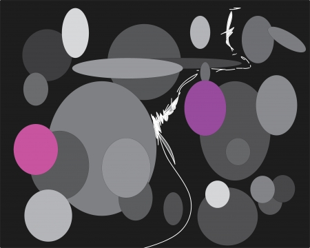 toys; circles; background; black; string; balls;