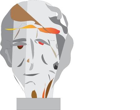 sculpt:  head, plaster, sculpture, sculpt, draw, write, study,