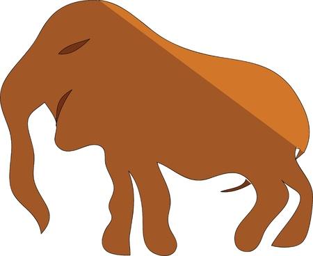 kifejező: régi; rajz; mamut; szikla; általános. primitív; kifejező; fekete-fehér; multi-ezeréves; elvont; VEC