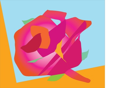 Rose - a sign of warmth, affection, love and passion  Illustration