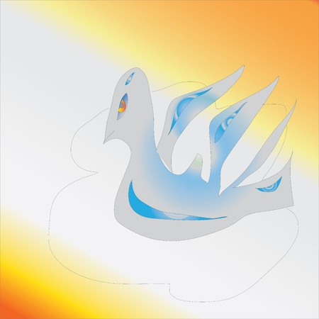 Dove present - a symbol of the bird world, vector